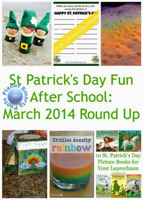 St Patrick's Day Afterschool Activities for Kids on Planet Smarty Pants www.planetsmarty.com