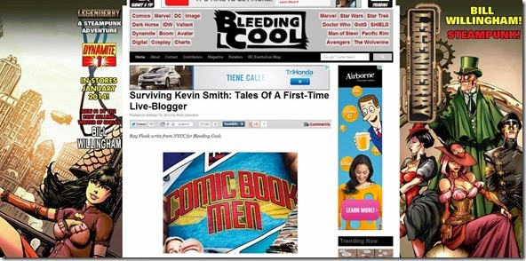 Surviving Kevin Smith  Tales Of A First Time Live Blogger   Bleeding Cool Comic Book  Movies and TV News and Rumors