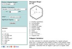 Hexagon Dimensions