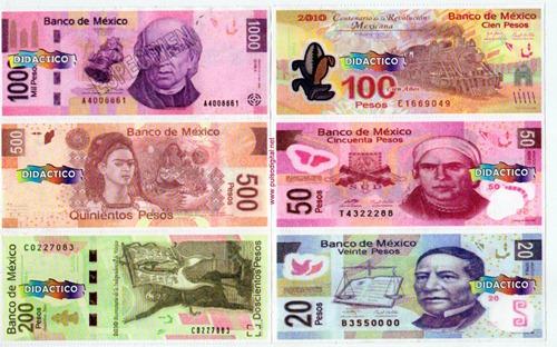 Billetes Mexicanos de juguete (2)