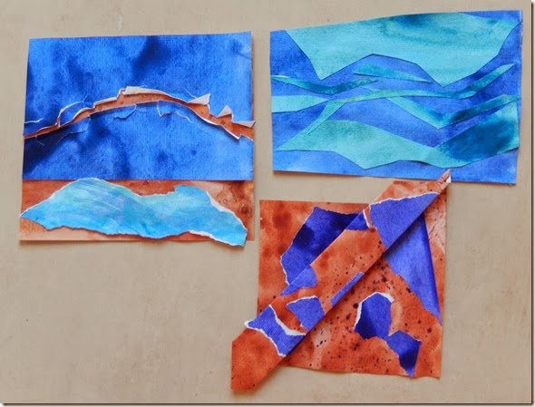 Developed colour samples