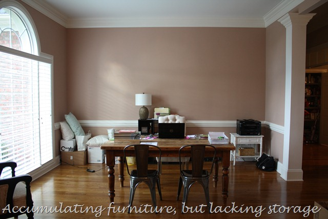 home office during makeover