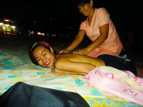 Body Massage on the beach