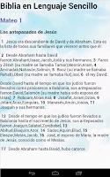 Screenshot of Biblia Lenguaje Sencillo
