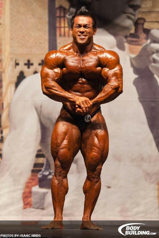 Hidetada Yamagishi muscular pose