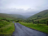 On the trail in the Glens of Antrim.