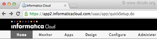 Informatica Cloud Browser Logon