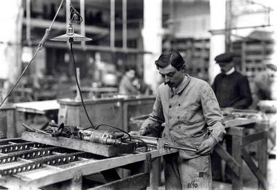 Ouvrier professionnel en 1914