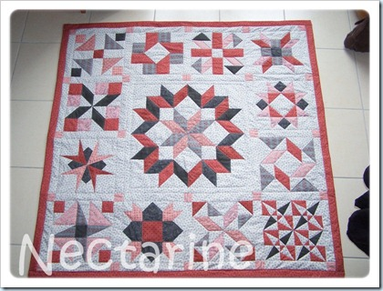 Nectarine throw quilt