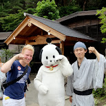 the Edo Wonderland mascot in Nikko, Totigi (Tochigi) , Japan
