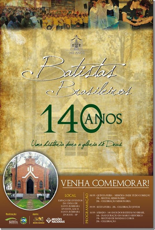 Cartaz 140 Anos Batistas Brasileiros