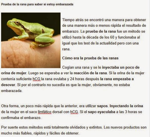 prueba de la rana