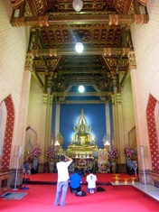 Inside one of the temples in Bangkok