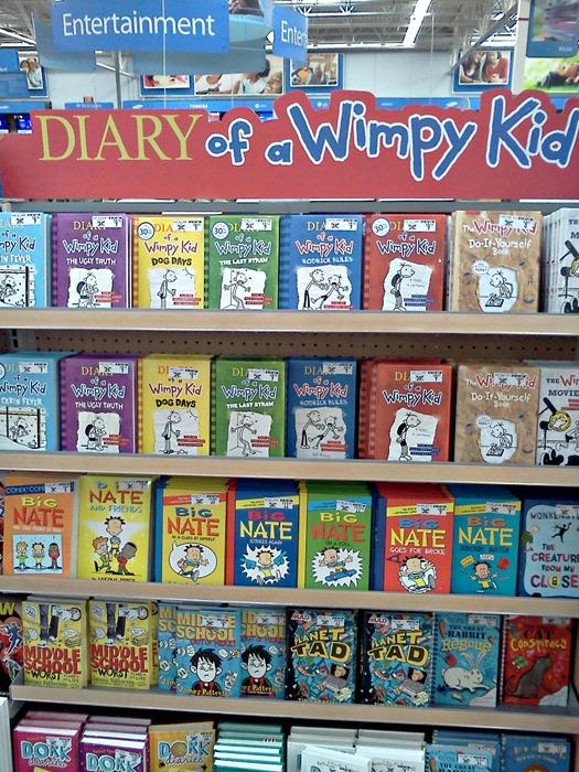 wimpy kid books at Walmart