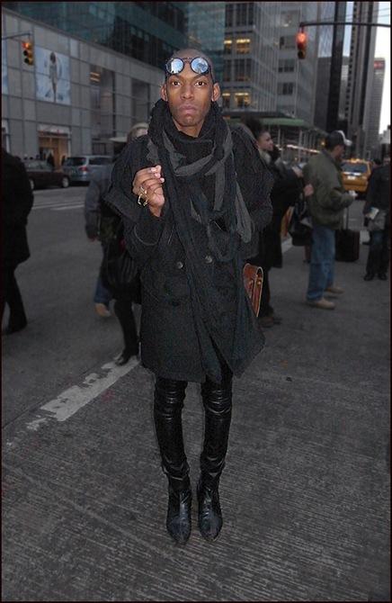 m leather pants grey scarfs glacier glasses ol