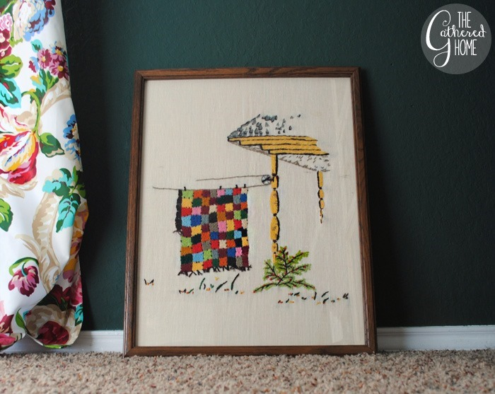 thriftscorethursday laundry needlework art