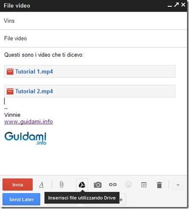 Inserire file come allegato Gmail da Google Drive