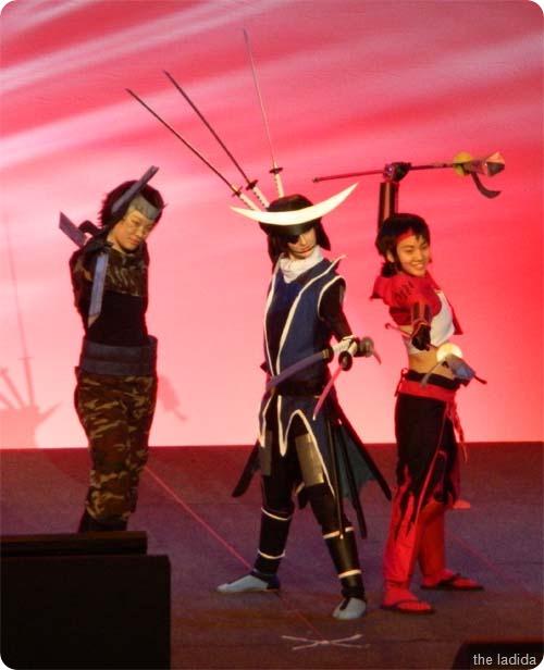 Masamune, Yukimura and Sasuke from Sengoku Basara