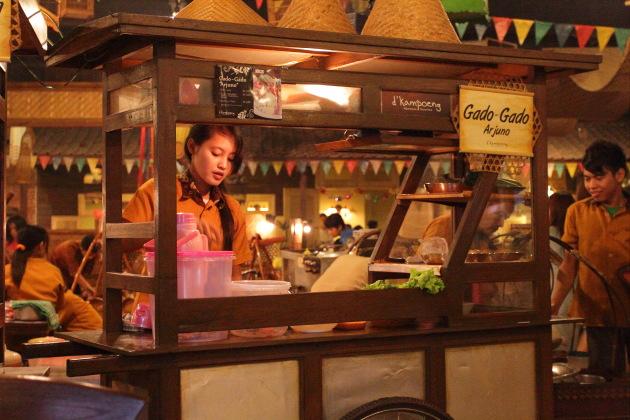 Gado Gado Stall at restaurant in Surabaya, Indonesia