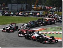 La partenza del gran premio d'Italia 2012