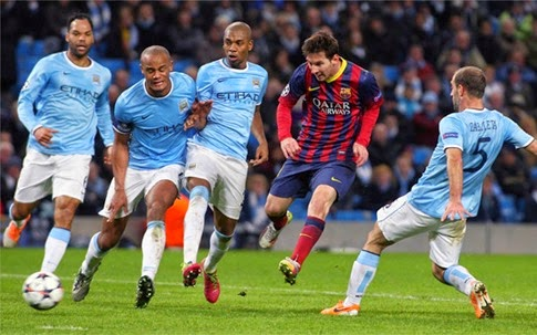 Gol Barcelona vs Manchester City
