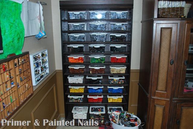 Lego Organizer Shelf and Legoman Shelf