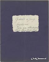 1938 Gedicht 10 jarig bestaan 'Een in Streven' Voor Fam. Katerberg Voorblad