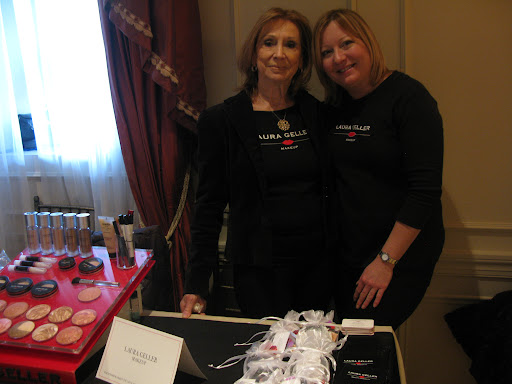 Carrie and Janet from Laura Geller provided beauty tips for brides.
