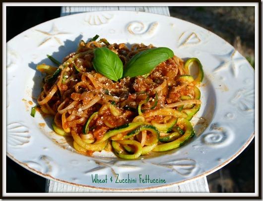Wheat & Zucchini Fettuccine