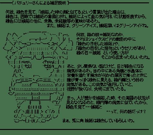 ━[ パチュリーさんによる補足説明 ]━(東方)