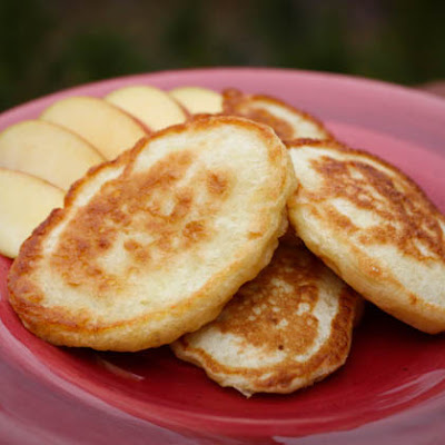 Oladi with Apples (Russian Buttermilk Pancakes)