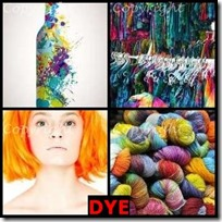 DYE- 4 Pics 1 Word Answers 3 Letters