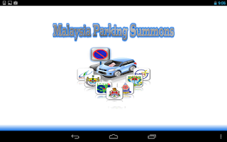 Screenshot of Malaysia Parking Summons