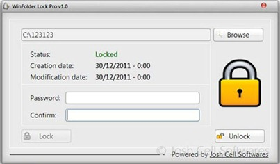 Free Download WinFolder Lock Pro 1.0