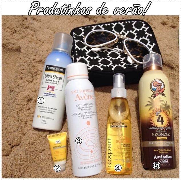 produtos de verão