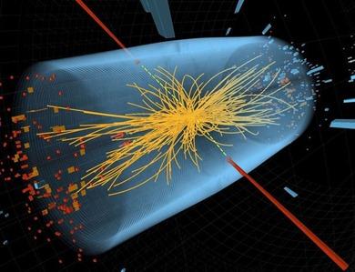 representação de sinal da existência do bóson de Higgs