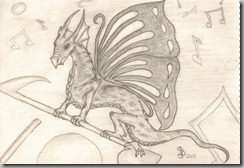 Butterfly dragon color scan