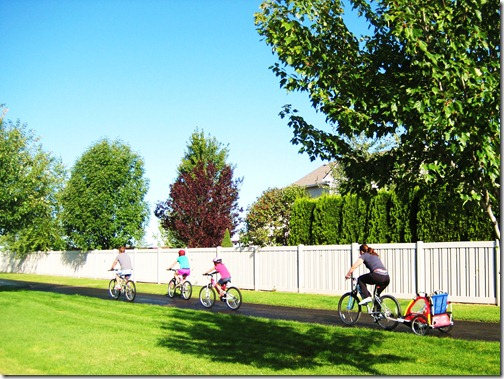 Romney Family Bike Ride