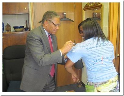 Senator Dan Blue Signing