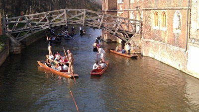 'Punt Rage' near the Mathematical Bridge