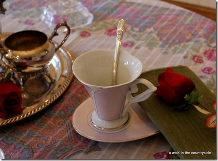 a walk in the countryside: tea for two