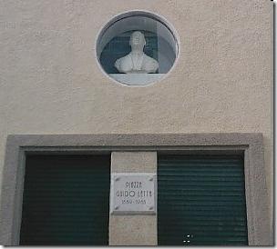 """Il busto dedicato a """"Guido Letta"""""""