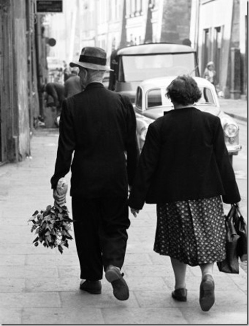 Elderly Polish Couple Walking Hand in Hand (Paul Schutzer, LIFE Magazine archives)