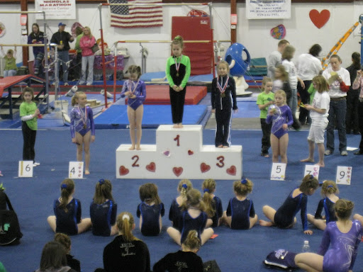 Natalie get 2nd and Brooklyn get 4th on beam - LVL 3