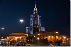 Palace of Culture and Science by night, Warsaw