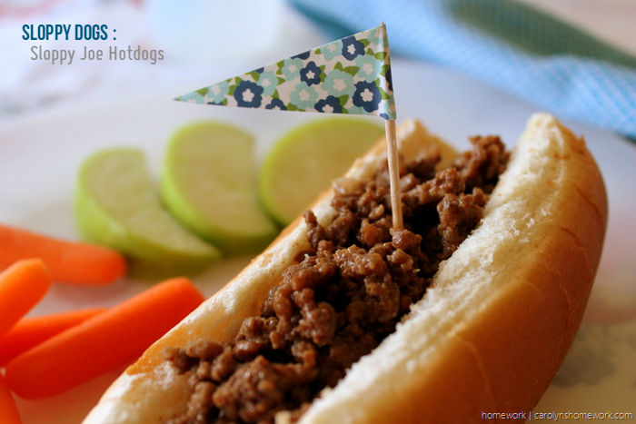 Sloppy Dogs {Sloppy Joe Dogs} via homework - carolynshomework (7)