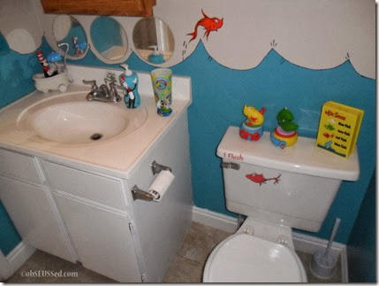 One Fish Two Fish Bathroom sink obSEUSSed