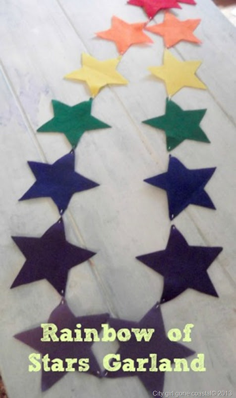 rainbow of stars garland bunting