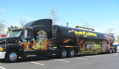 Florida 3.2013 Daytona big rig and tractor trailer cab roast BBQ rig