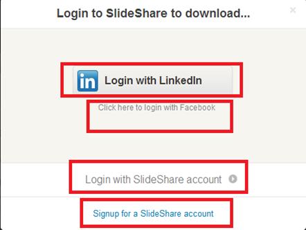 การล็อกอินเข้าใช้งานบริการ slideshare